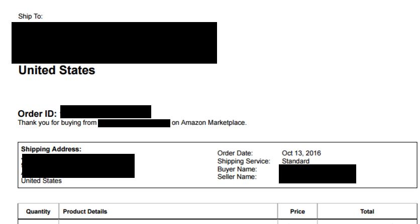 Amazon輸出 納品書
