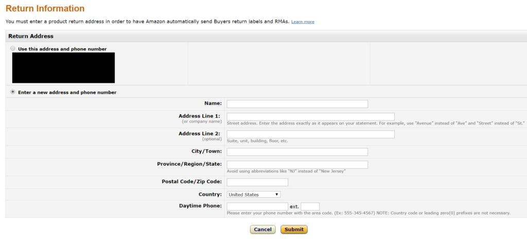 Amazon輸出 返品