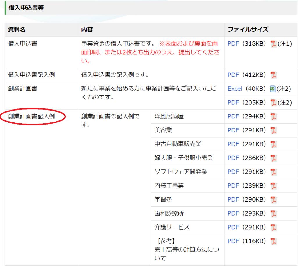 日本公庫融資